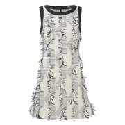 Karl Lagerfeld Women's Fringed Karl Jacquard Dress - White