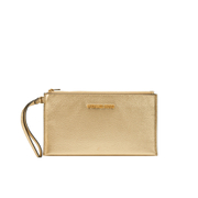 MICHAEL MICHAEL KORS Women's Bedford Large Zip Clutch Bag - Pale Gold