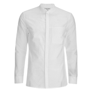 Helmut Lang Men's Whisper Seersucker Bomber Shirt - Optic White