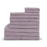 Highams 100% Egyptian Cotton 10 Piece Towel Bale (550gsm) - Heather