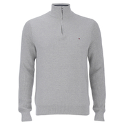 Tommy Hilfiger Men's Adrien Half Zip Jumper - Cloud