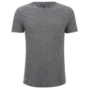 Tommy Hilfiger Men's Crew Neck Pocket T-Shirt - Flag Black
