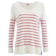 Cocoa Cashmere Women's Scoop Neck Jumper - Pink/Cobalt