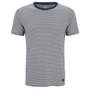 Edwin Men's Engineered Fine Rib Striped T-Shirt - Navy/ White
