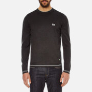 BOSS Green Men's Rime Crew Neck Knit Jumper - Charcoal