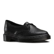 Dr. Martens Women's Siano 1-Eye Flat Shoes - Black Hi Shine