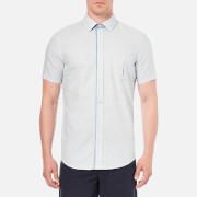 BOSS Orange Men's Eslimye Short Sleeve Shirt - Navy