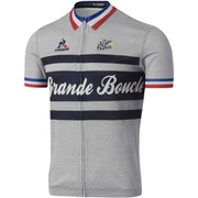 Le Coq Sportif Men's Tour de France Grande Boucle Short Sleeved Jersey - Grey