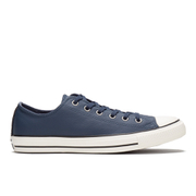 Converse Men's Chuck Taylor All Star Motorcycle Leather Ox Trainers - Navy/Black/Egret