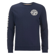 Threadbare Men's Michigan Crew Neck Sweatshirt - Navy