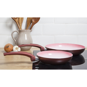 Tower IDT80010 2 Piece Frying Pan Set - Red - 20/28cm