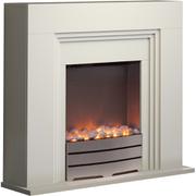 Warmlite WL45023 Bluetooth Fireplace Suite - White
