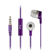 KitSound Entry Mini Earphones With In-Line Mic - Purple