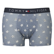 Tommy Hilfiger Men's Star Print Boxer Shorts - Faded Denim