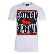 DC Comics Batman vs. Superman Gotham Guardian Herren T-Shirt - Weiss