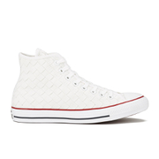 Converse Men's Chuck Taylor All Star Woven Canvas Hi-Top Trainers - White/Red