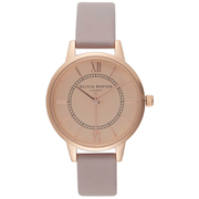 Olivia Burton Women's Wonderland Watch - Grey Lilac/Rose Gold