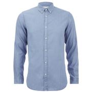 Selected Homme Men's One Nolan Long Sleeve Shirt - Light Blue Denim