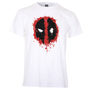 Marvel Deadpool Men's Paint Logo T-Shirt - White