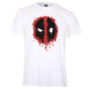 Marvel Deadpool Men's Paint Logo T-Shirt - White
