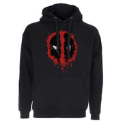 Marvel Deadpool Men's Paint Logo Hoody - Black