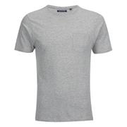 Brave Soul Men's Arkham Pocket T-Shirt - Grey Marl