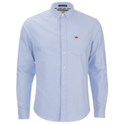 Brave Soul Men's Pompeii Long Sleeve Shirt - Light Blue