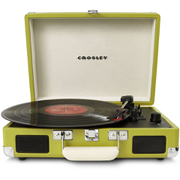 Crosley Cruiser Portable Turntable with Built-In Stereo Speakers - Green