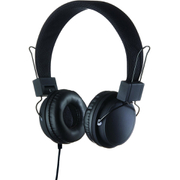 Goodmans On Ear Headphones with In-Line Mic & Remote - Black
