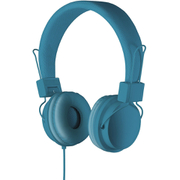 Goodmans On Ear Headphones with In-Line Mic & Remote - Blue