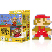 Super Mario Maker + Mario Classic Colours amiibo + 8-Bit Mario Soft Toy