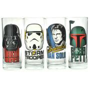 Star Wars Characters Set of 4 Glasses