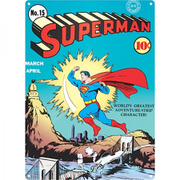 DC Comics Superman Zap Large Tin Sign (29.7cm x 42cm)