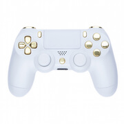 PlayStation DualShock 4 Custom Controller - White & Gold