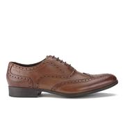 Clarks Men's Banfield Limit Leather Brogues - Tan