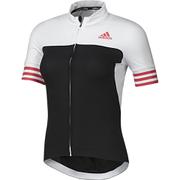 adidas Women's Adistar Short Sleeve Jersey - Black/Shock Red