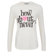 Wildfox Women's How About Never Thermal Sweatshirt - Pearl