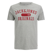 Jack & Jones Men's Seek T-Shirt - Light Grey Marl