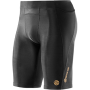 Skins A400 Men's Logo Half Tights - Black/Gold