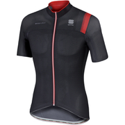 Sportful BodyFit Pro Race Short Sleeve Jersey - Black/Grey/Red