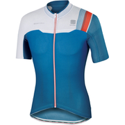 Sportful BodyFit Pro Race Short Sleeve Jersey - Blue/White/Red