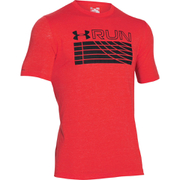 Under Armour Men's Run Track Graphic T-Shirt - Red