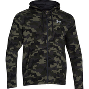 Under Armour Men's Storm Rival Fleece Printed Hoody - Green/Grey