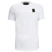 4Bidden Men's Longline Aim T-Shirt - White