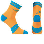 Northwave Blaze 16cm Cuff Socks - Orange Fluo/Blue