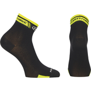 Northwave Logo 12cm Cuff Socks - Black/Yellow Fluo