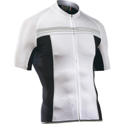 Northwave Evolution Full Zip Short Sleeve Jersey - White/Black