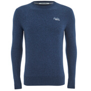 Superdry Men's Orange Label Crew Neck Jumper - Dull Navy
