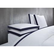 Calvin Klein Canyon Indigo Duvet Cover - White