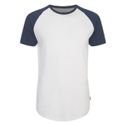 Jack & Jones Men's Originals Stan Raglan Sleeve T-Shirt - Navy/White